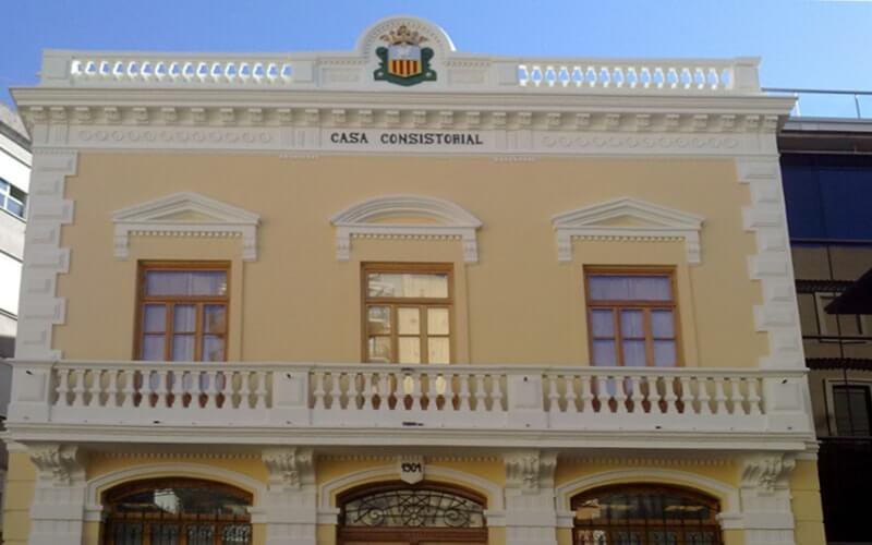 Saneamiento de fachada Casa consistorial de Algemesí