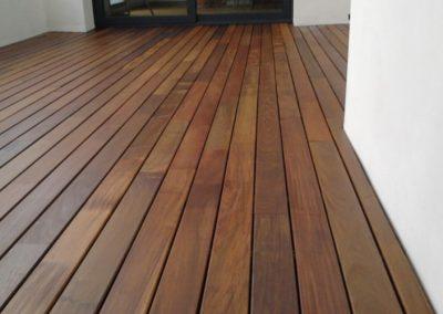 Suelo de madera IPE para la terraza